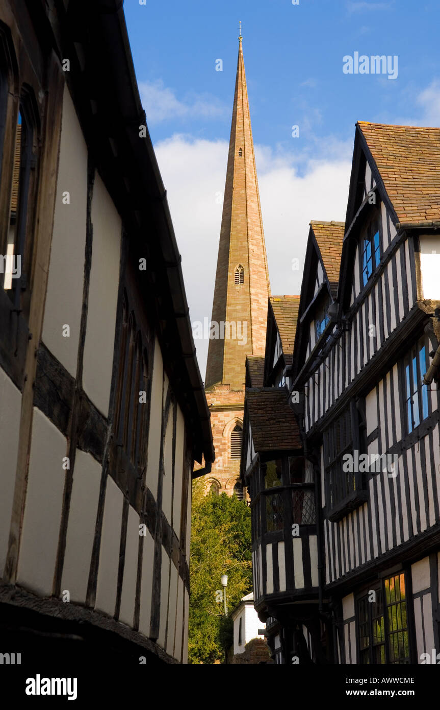 Church Lane Ledbury - Stock Image