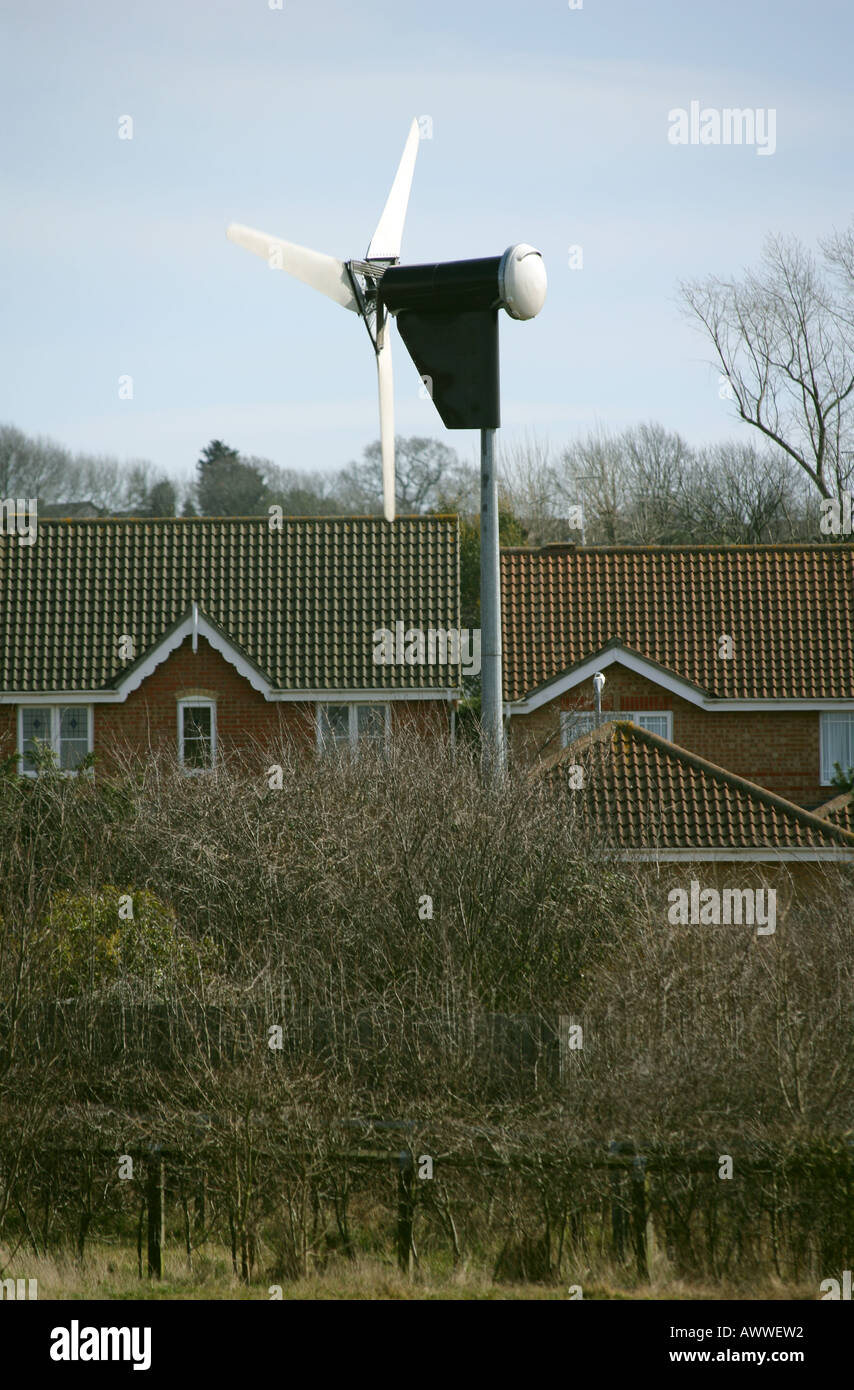 Wind turbine for private use, Rayleigh, Essex, England, UK