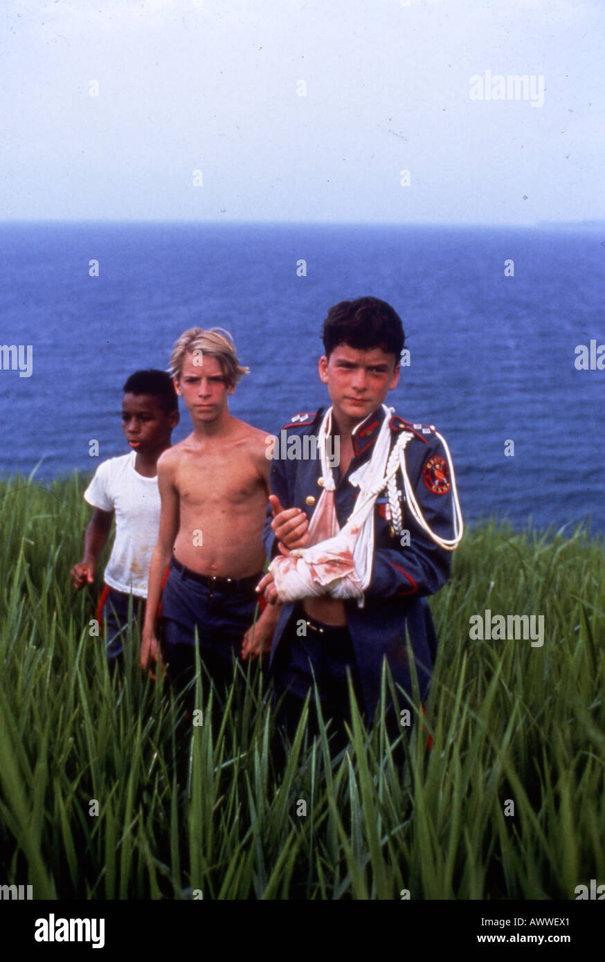 LORD OF THE FLIES 1990 Columbia film with Balthazar Getty at right - Stock Image