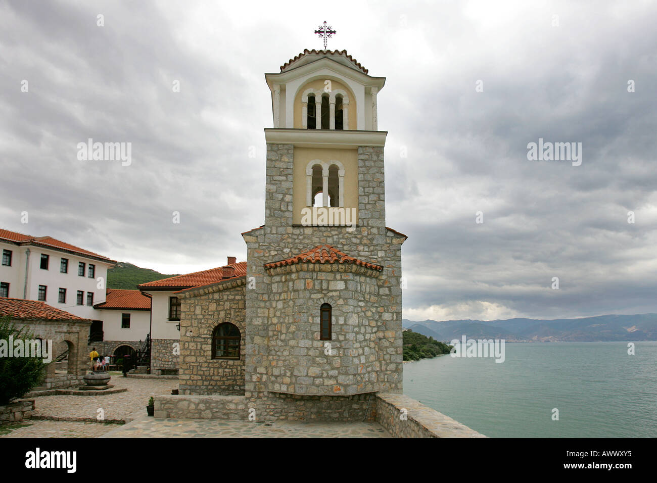 Sveti Naum Monastery Macedonia Shore Lake Ohrid Border Albania Stock