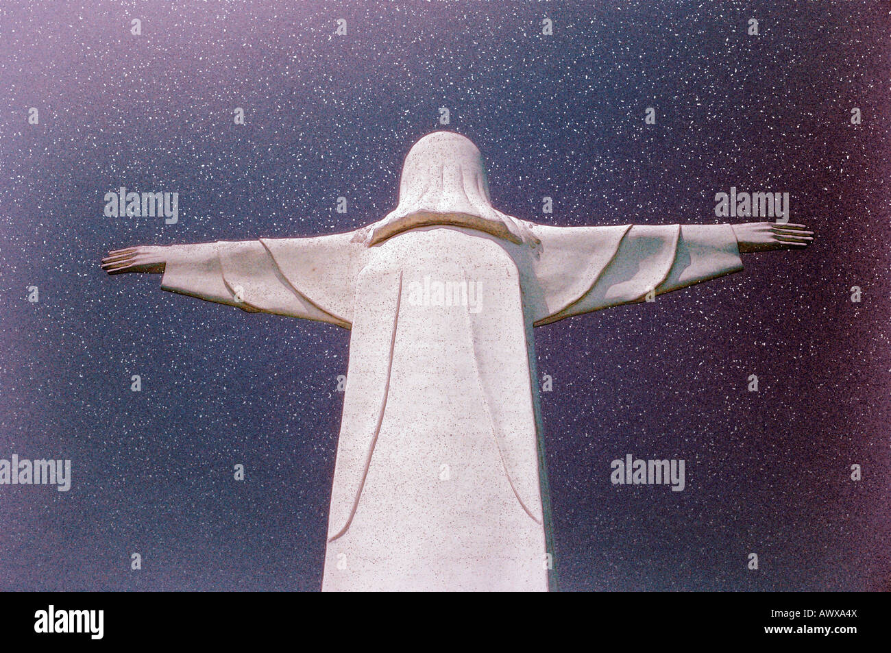 Digitally altered image of The Lady of Ozarks Cross near Eureka, Arkansas - Stock Image
