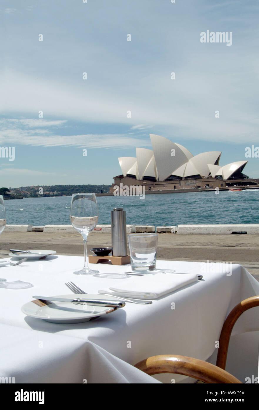 Restaurant Overlooking Sydney Harbour Sydney Opera House