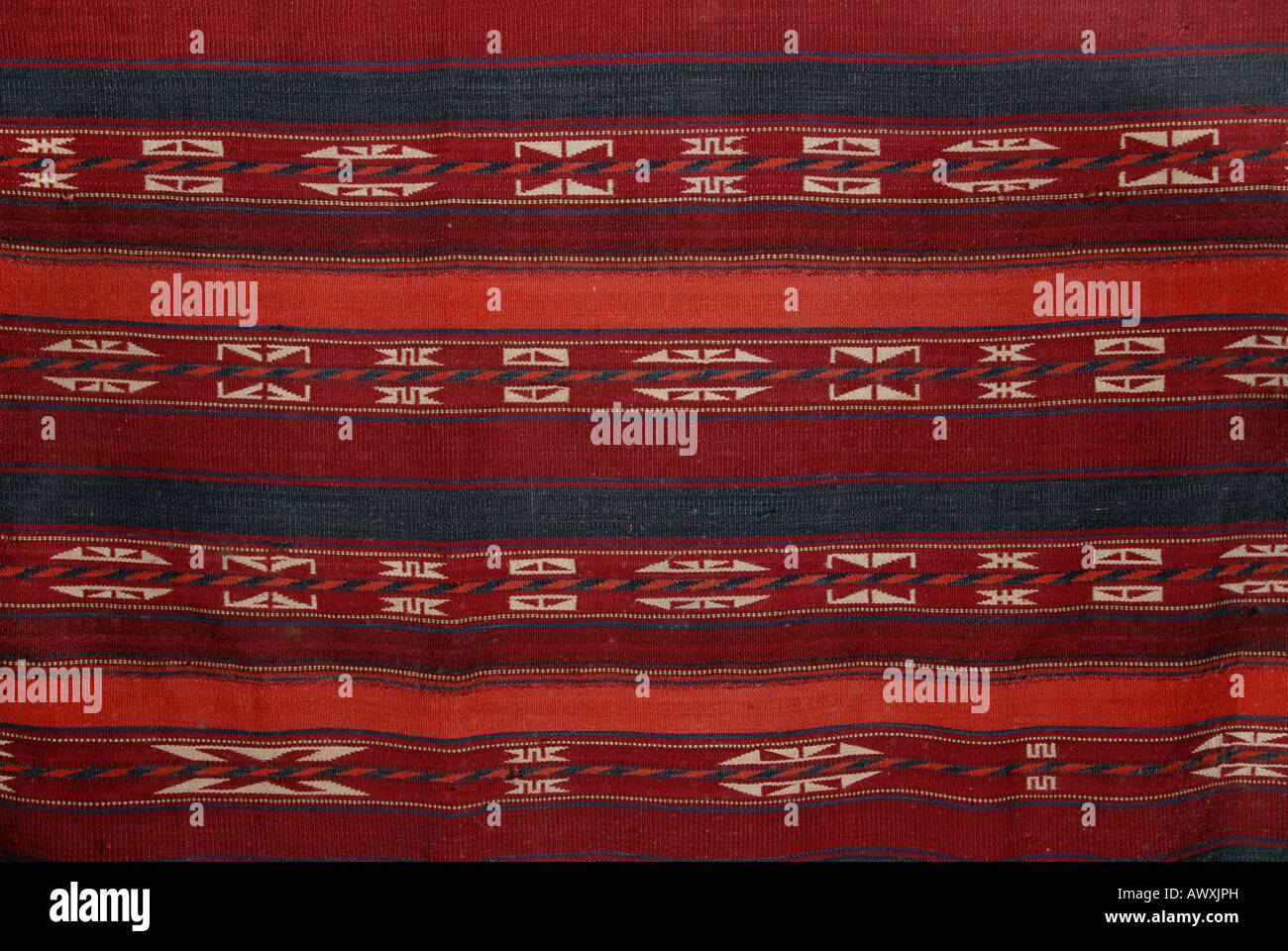 Flatweave, most likely from Central Asia - Stock Image