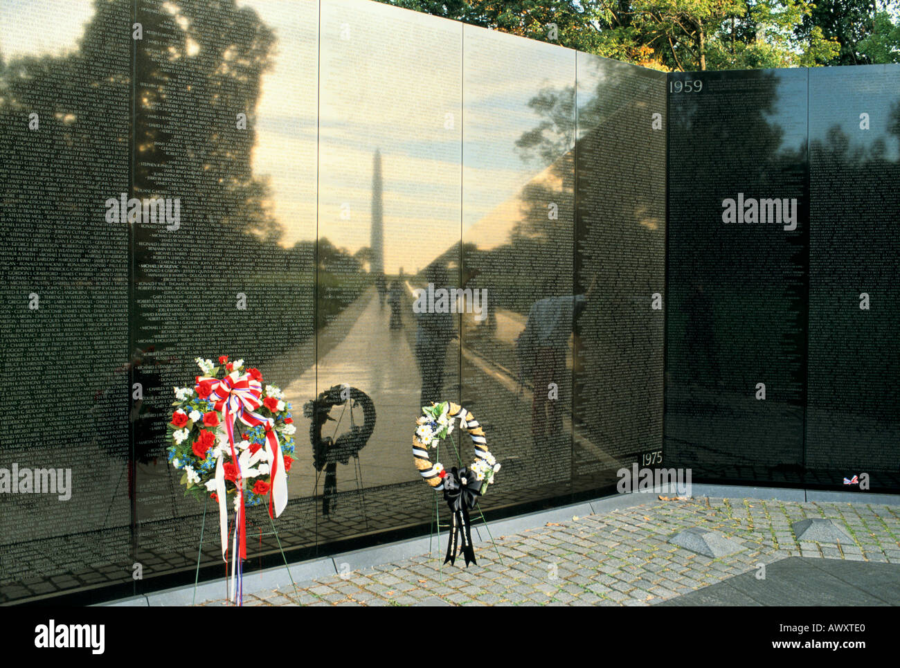 Wonderful Washington, D.C., USA, The Mall, Vietnam Veterans Memorial, Wall Of Names  Designed By Maya Ying Lin, Washington Monument