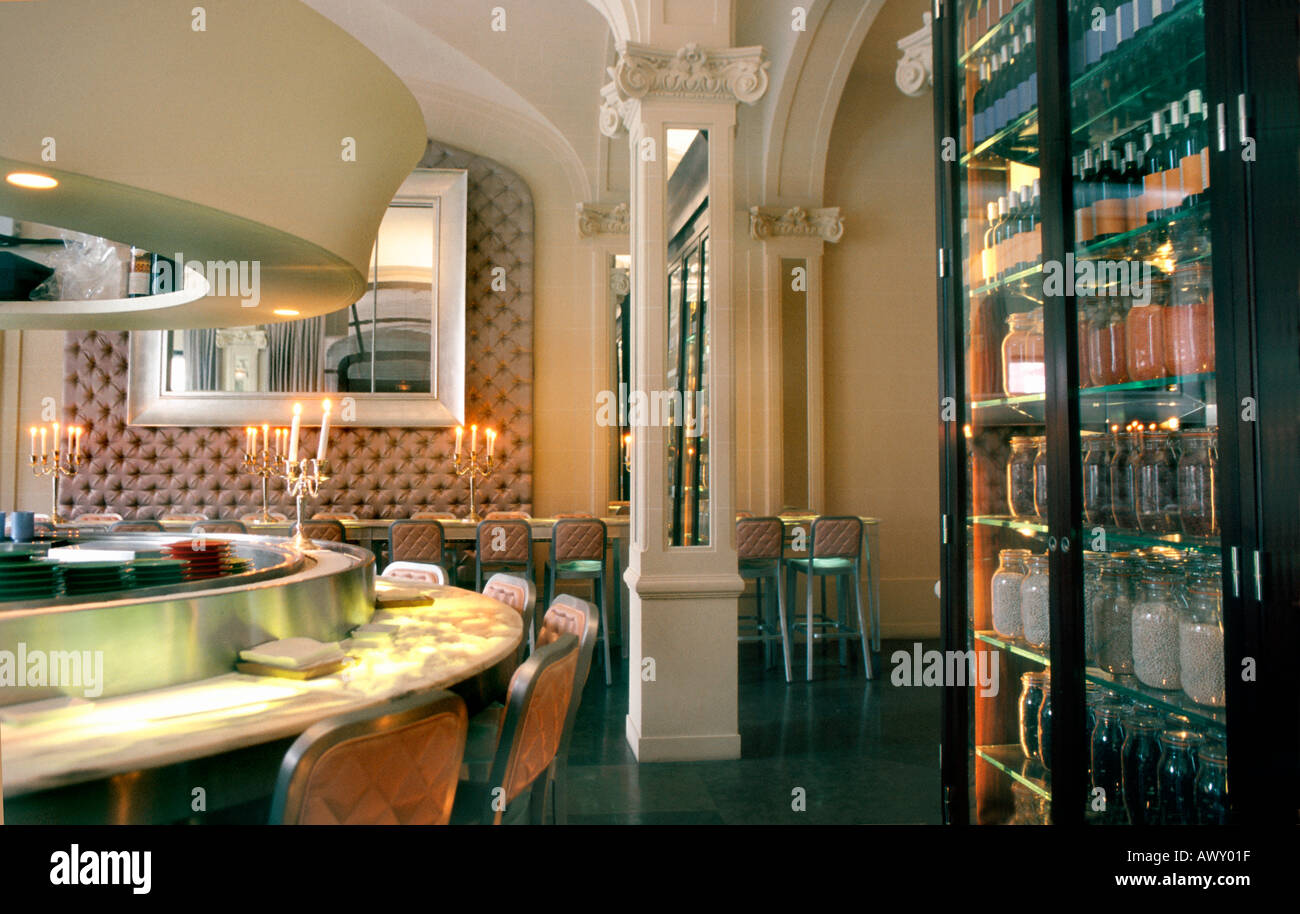 Paris France French Restaurant Fish Specialty Bon Contemporary Interior Design Inside Philippe Starck Dining Room
