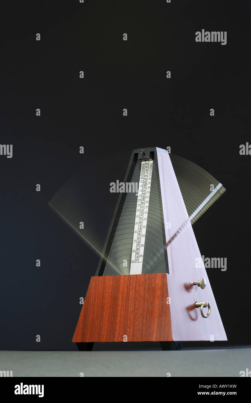 Metronome in motion - Stock Image
