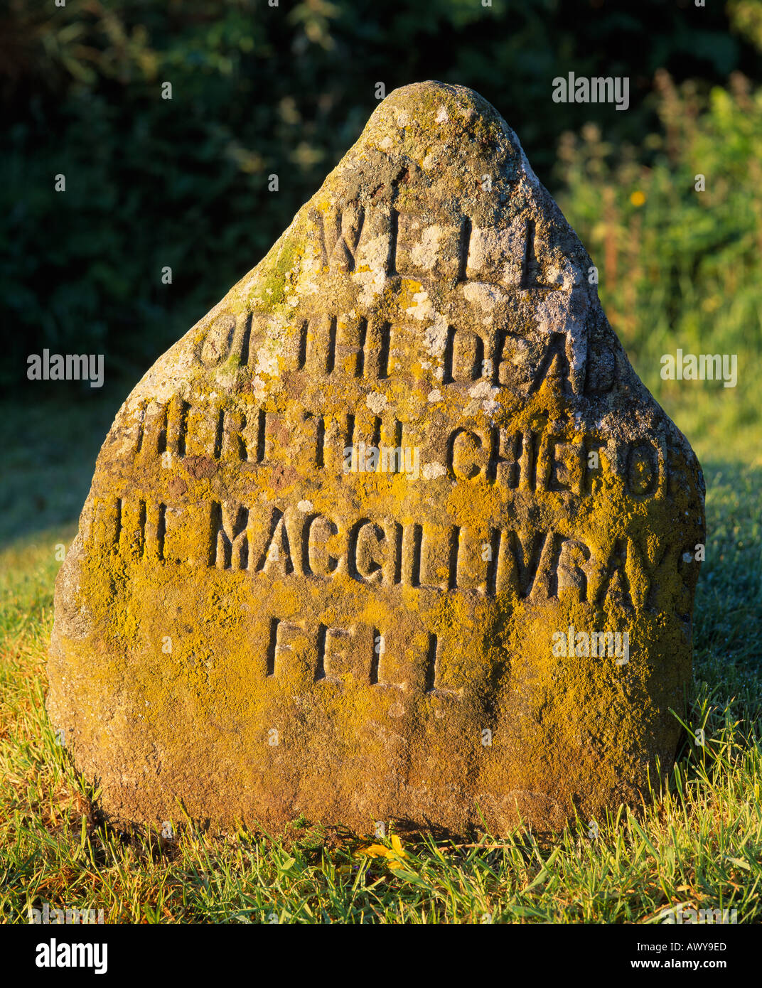 Battle of Culloden. Well of the Dead. Culloden Moor, near Inverness, Highland, Scotland, UK - Stock Image
