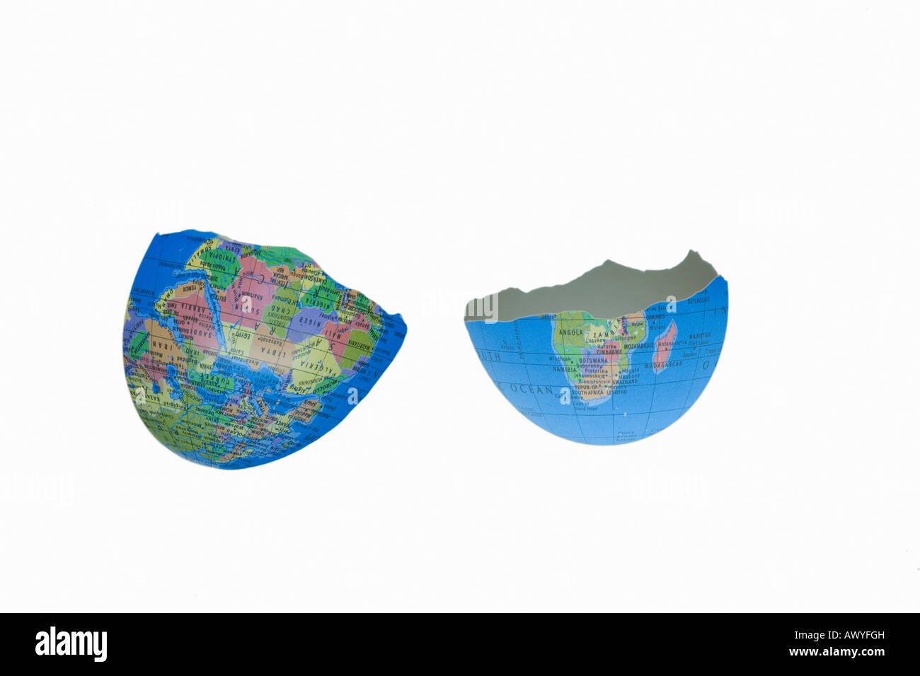 egg shaped globe - Stock Image