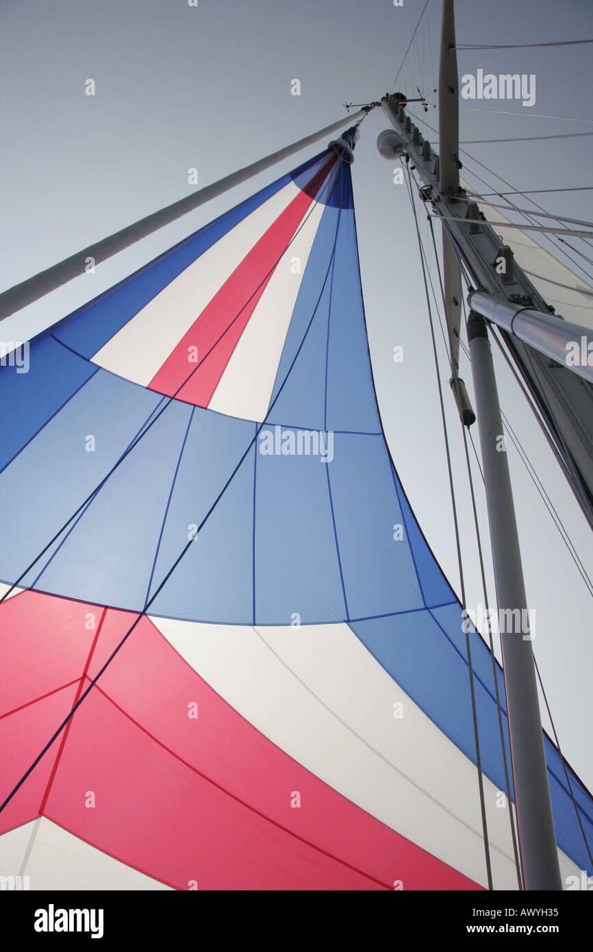 The Colorful Sail is a Code Zero - Stock Image