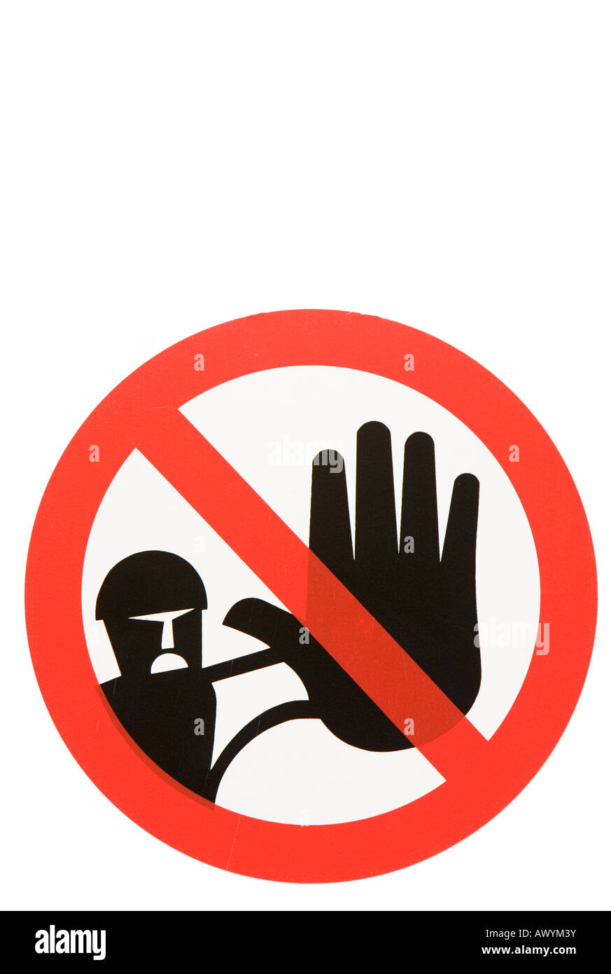 No admittance sign no unauthorized personnel allowed - Stock Image
