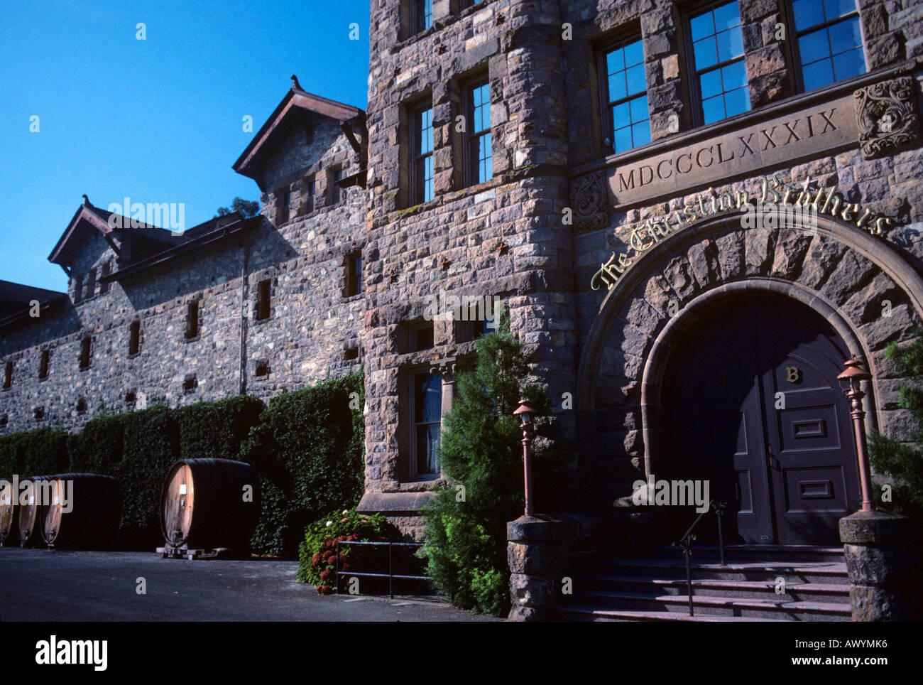Greystone Mansion. Napa Valley, California Stock Photo