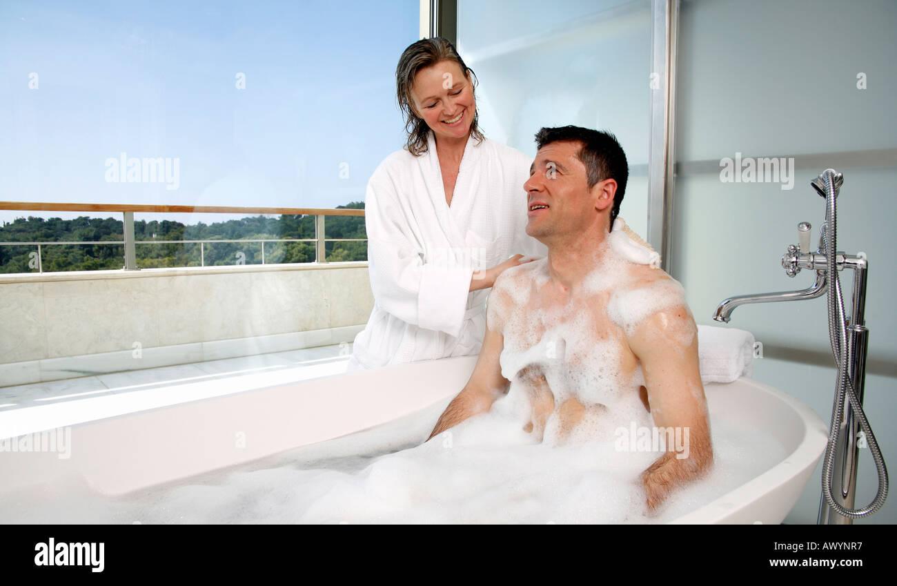 Phrase mature couple shower