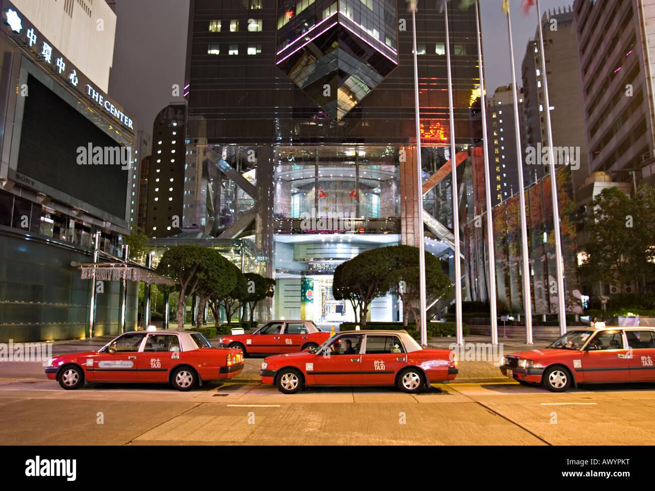 Hong Kong Taxis - Stock Image