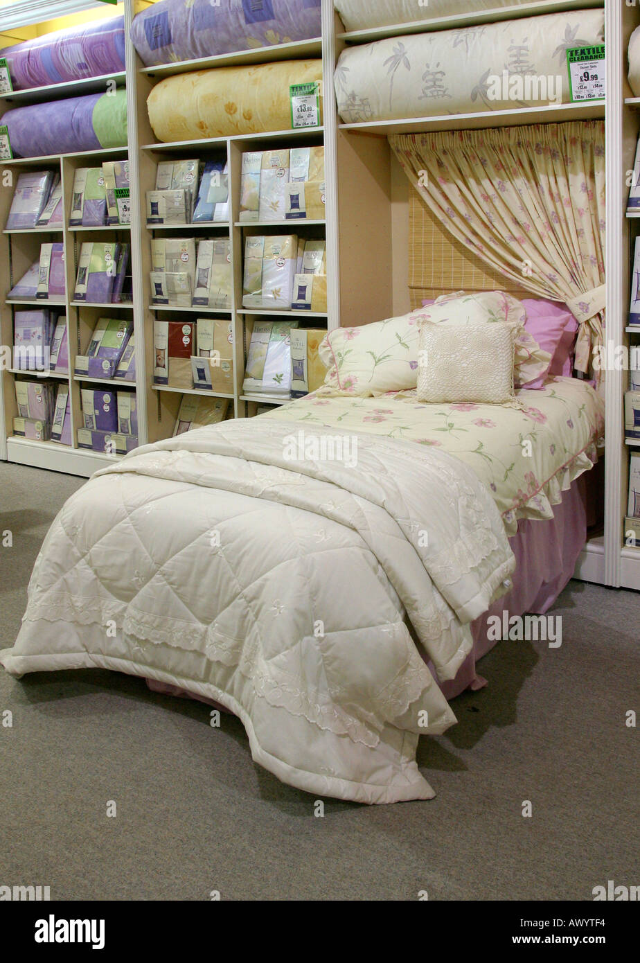 Duvet Cover And Bed Linen On Display In Store