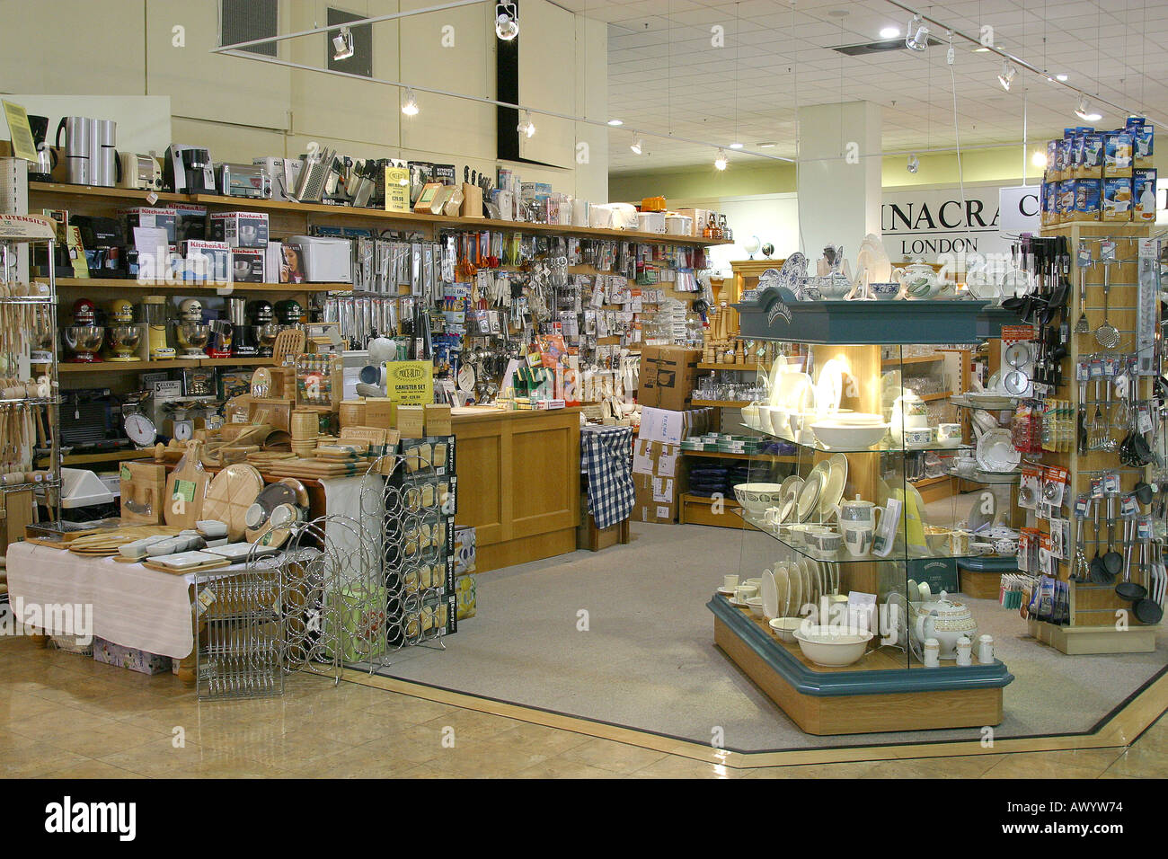 Kitchen utensils in department store Stock Photo: 5447027 ...
