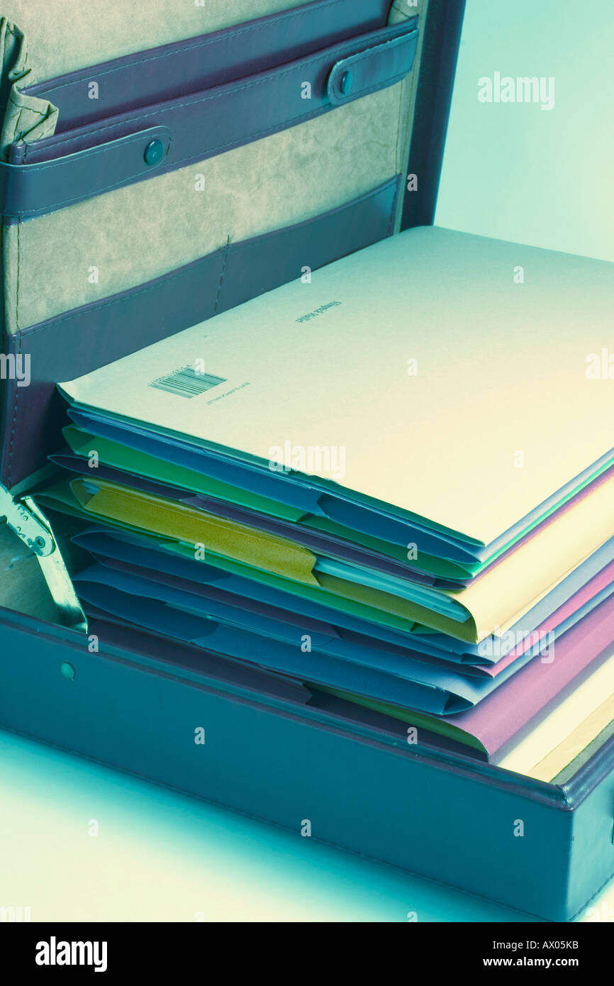 Files in Briefcase - Stock Image