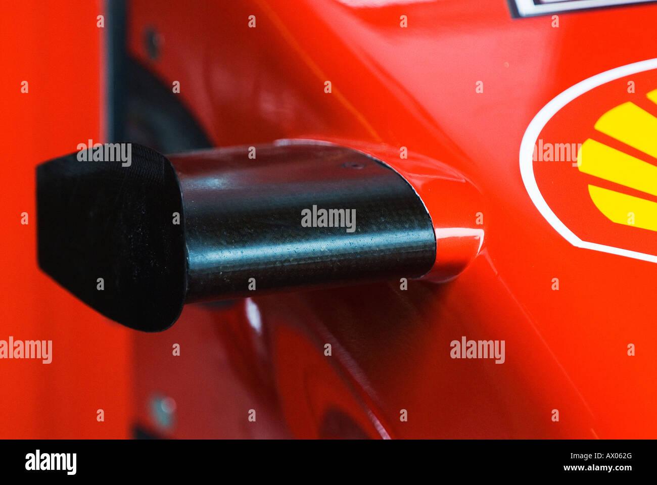 front wing on Ferrari Formula 1 racecar - Stock Image