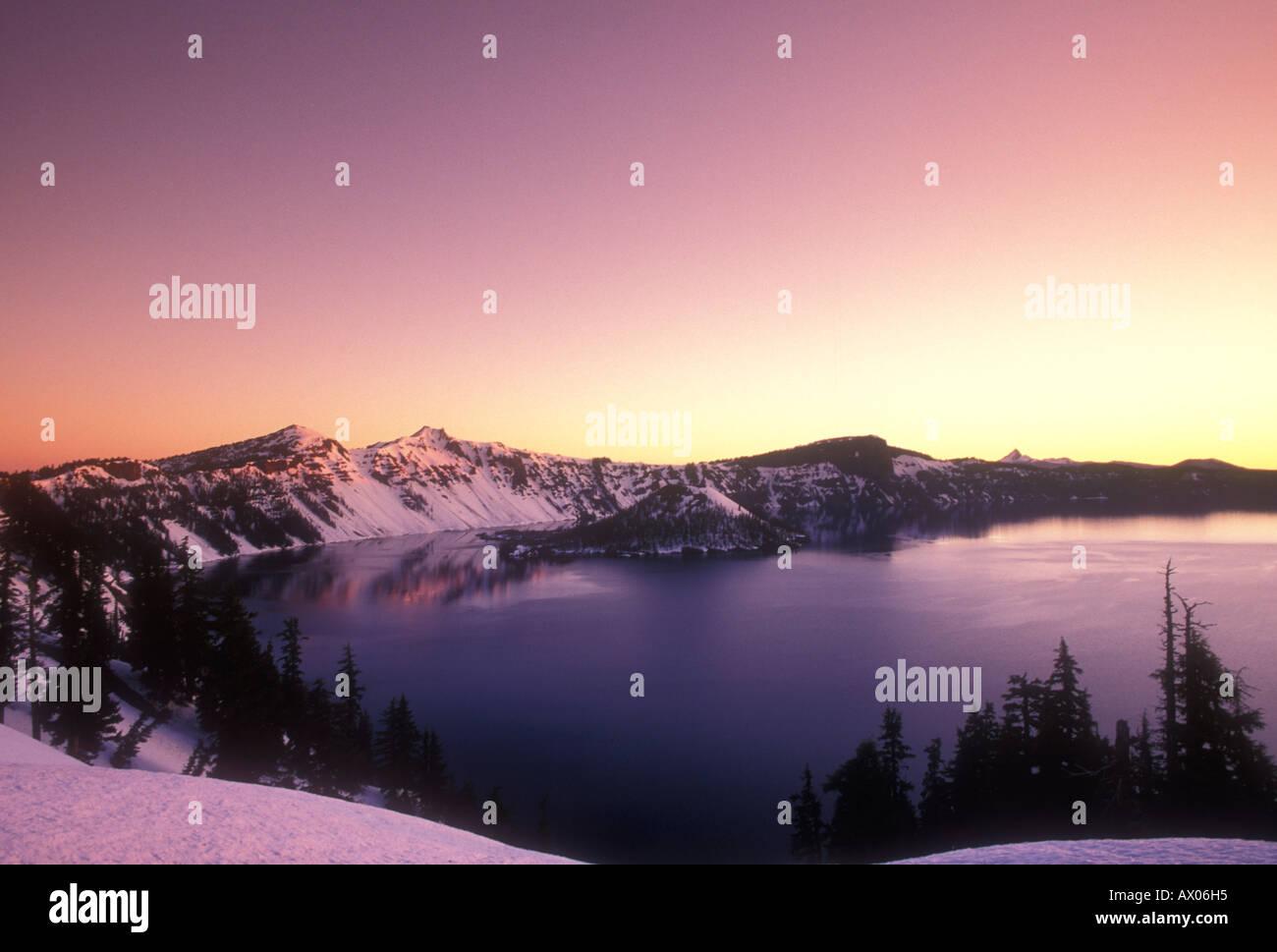 Great Creator lake Oregon USA - Stock Image