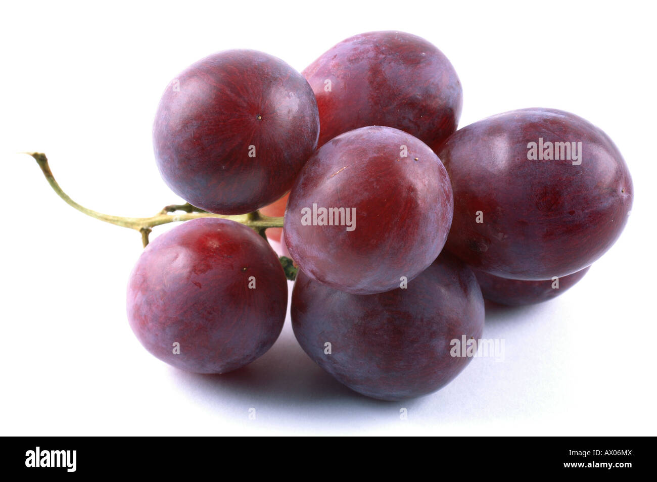 Detail of red grapes Weintraube Trauben Stock Photo