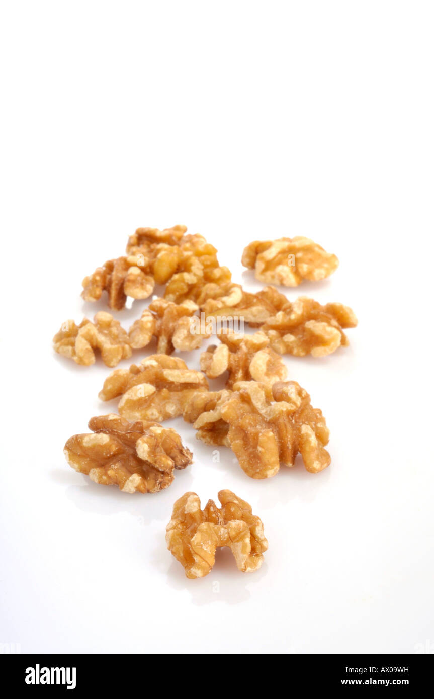 Wallnut cores Juglandaceae Stock Photo