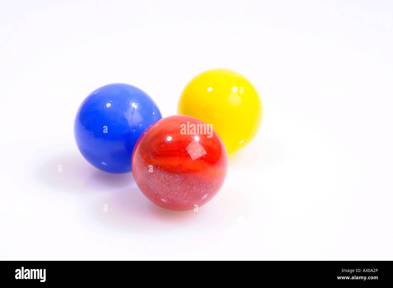 Three marbles - Stock Image