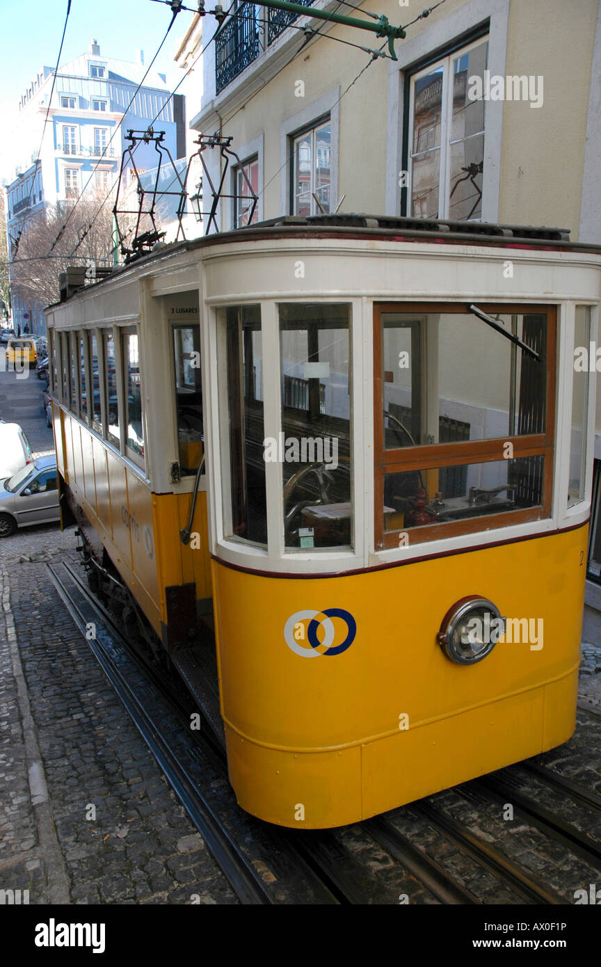 cable car lisbon portugal europe stock photo 16688577 alamy. Black Bedroom Furniture Sets. Home Design Ideas