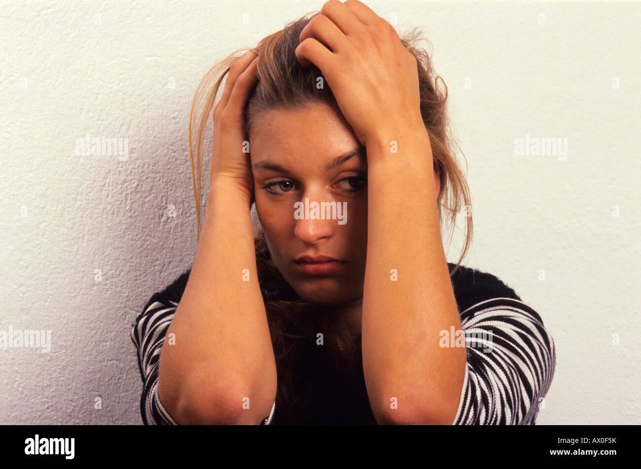 Sad woman - Stock Image