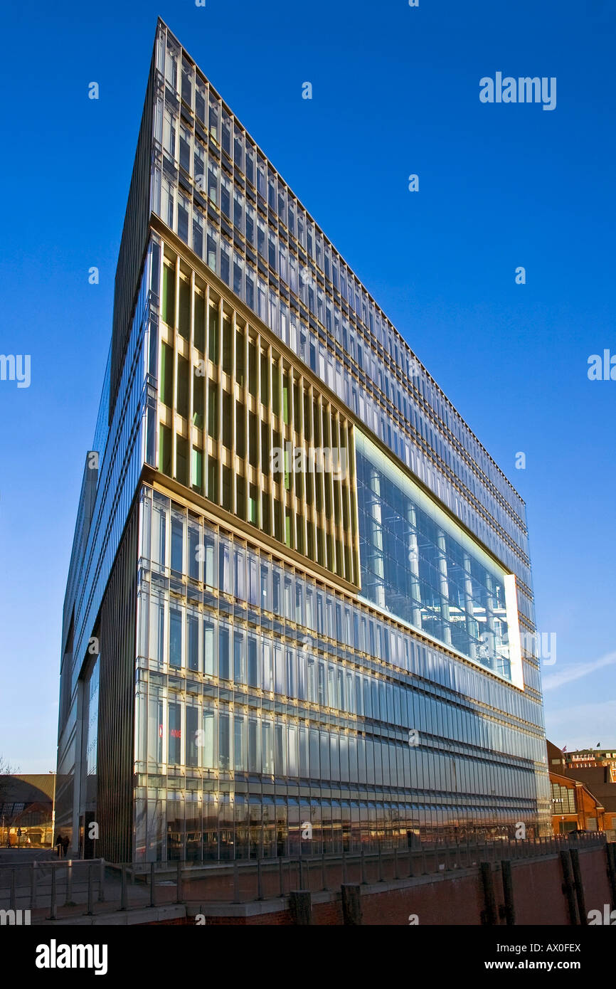 Exterior view, Deichtorcenter, modern office building in downtown Hamburg, Germany, Europe - Stock Image