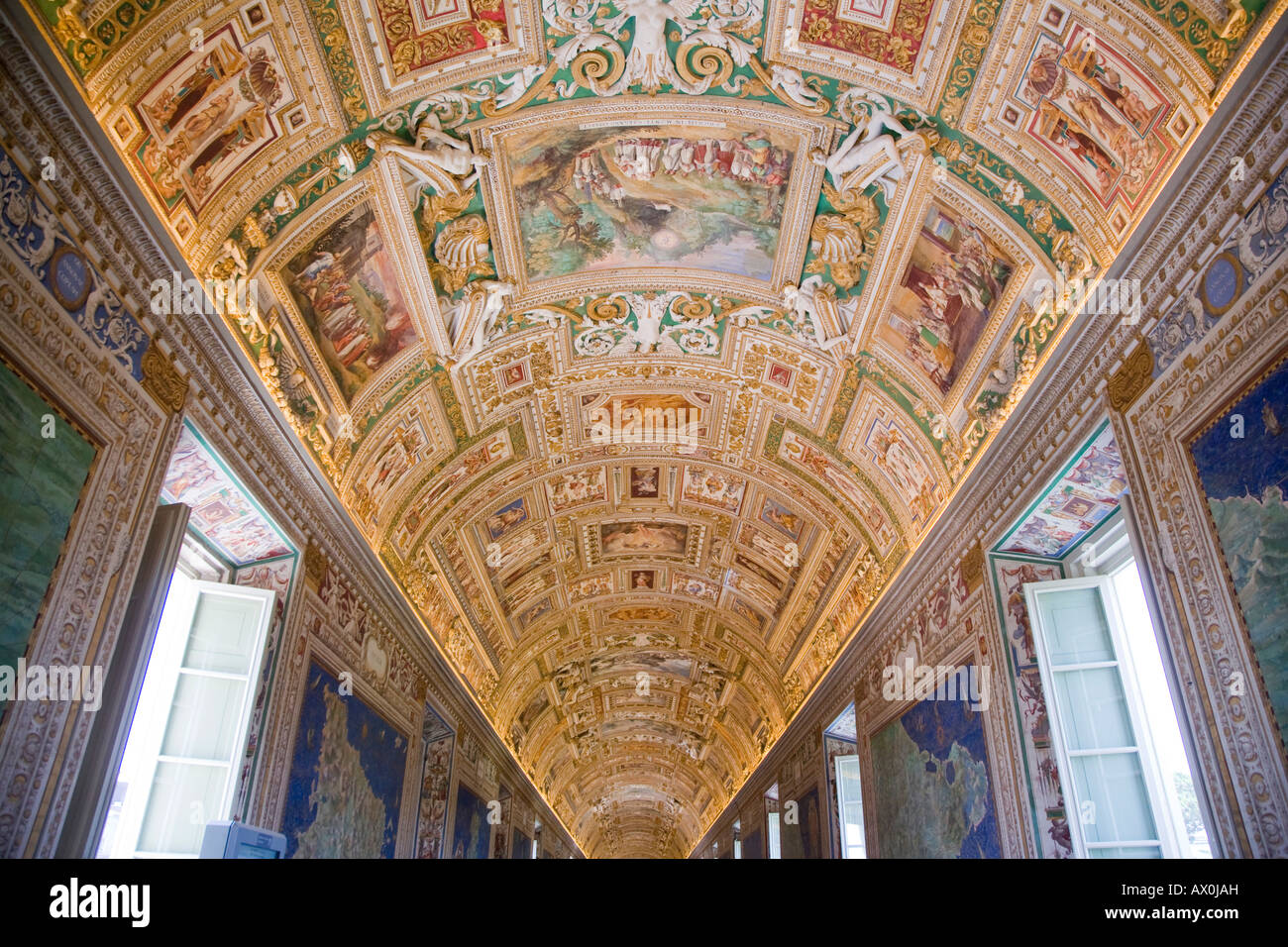 Gallery of the Maps, Musei Vaticani, Rome, Italy - Stock Image