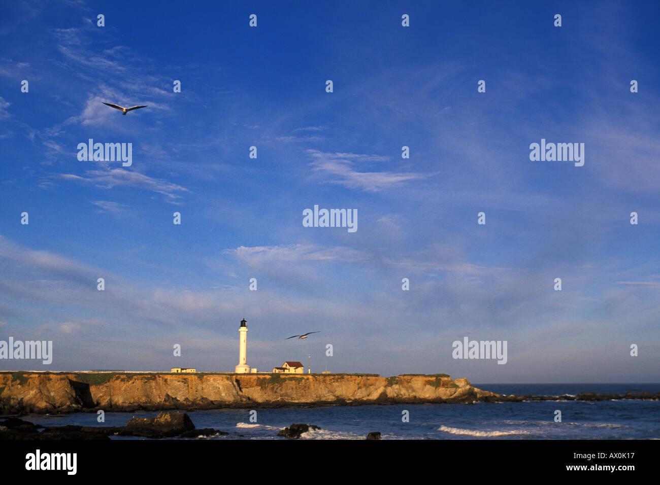 California, Point Arena, Point Arena Lighthouse Stock Photo