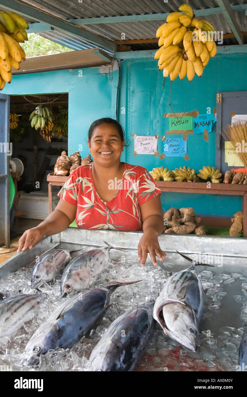 Pohnpei Market, one of the largest in Micronesia, Pohnpei