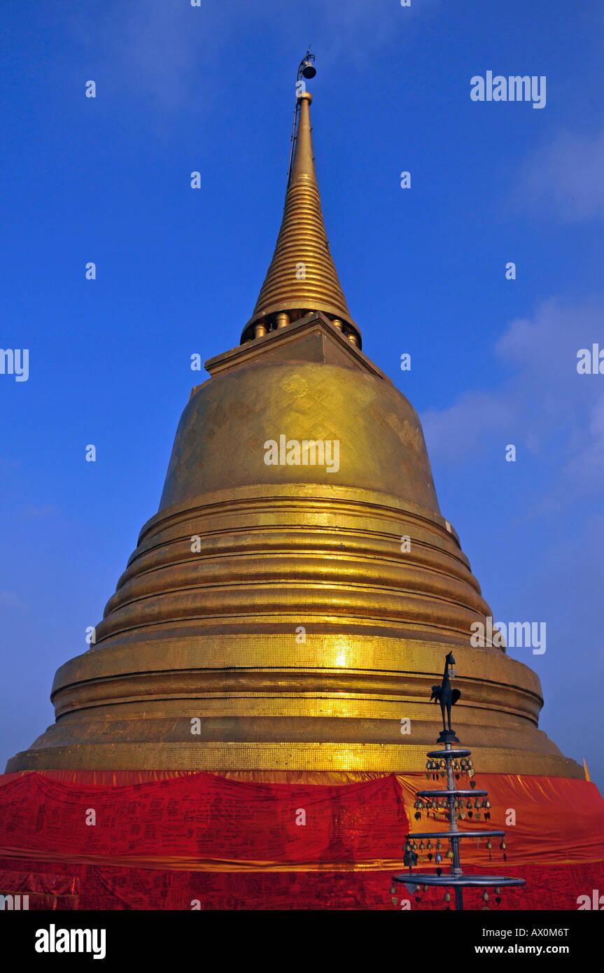 Gilded stupa, Golden Mount, Bangkok, Thailand, Southeast Asia, Asia Stock Photo