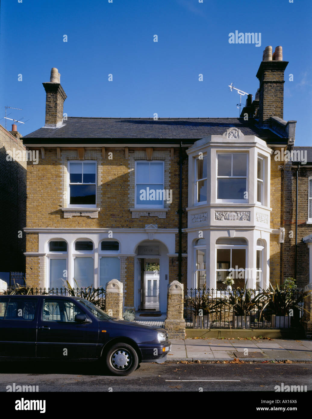 PRIVATE HOUSE, LONDON, UK - Stock Image