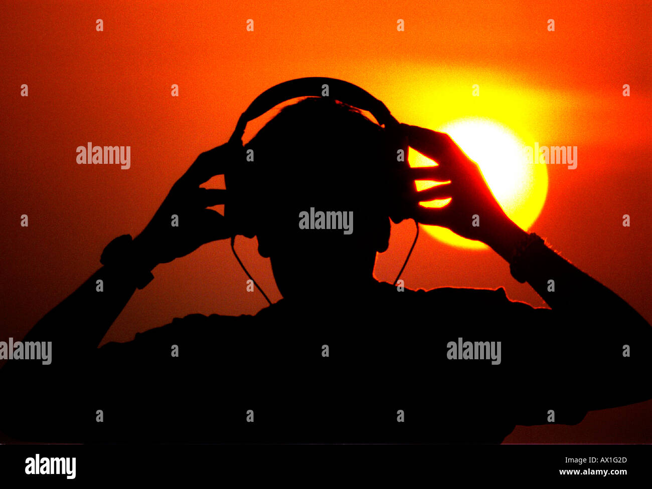 DJ Jayess prepares for an all night gig on Brighton Beach Sussex - Stock Image