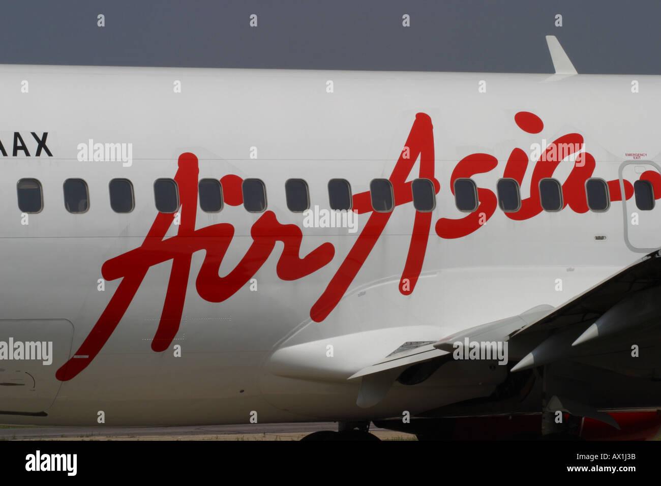Air Asia jet passenger commercial airliner Airasia - Stock Image