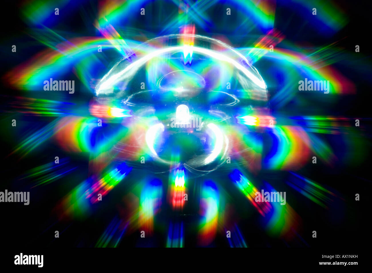 The spectrum of colors shining from a light - Stock Image