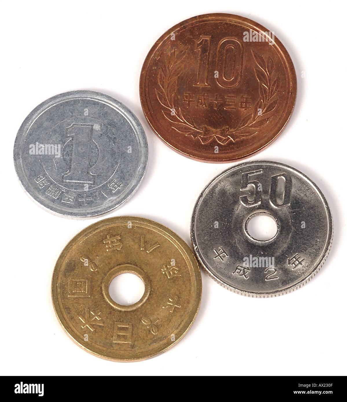 japanese yen coins stock photo 1712910 alamy