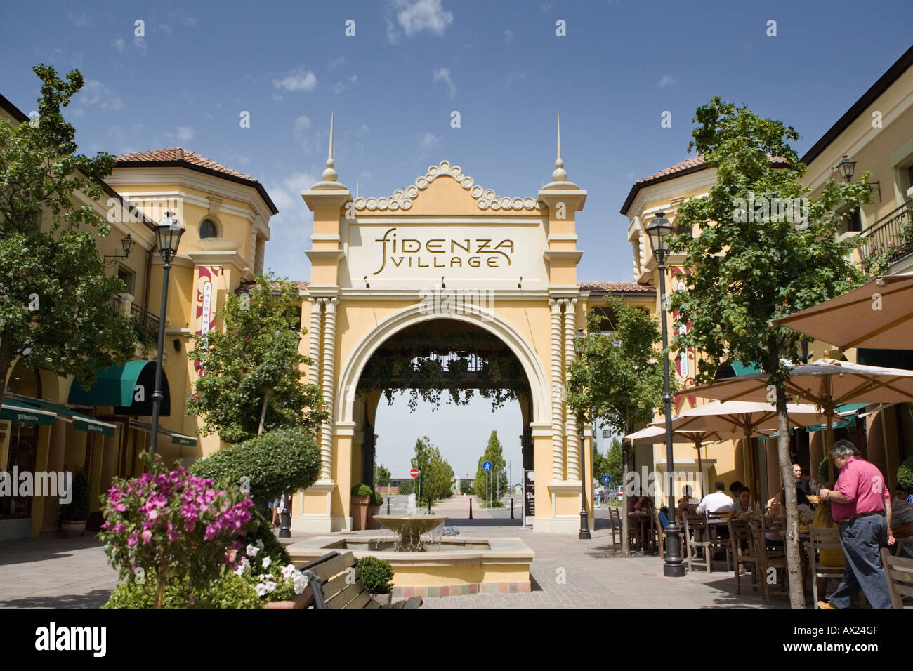 Fidenza shopping outlet mall Fidendza Emilia Romagna Italy Stock ...