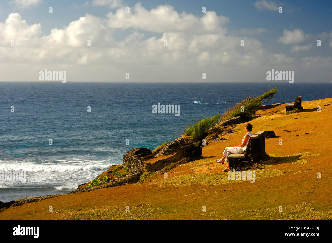 Gris-Gris viewpoint on the clifftop, Souillac, Mauritius - Stock Image