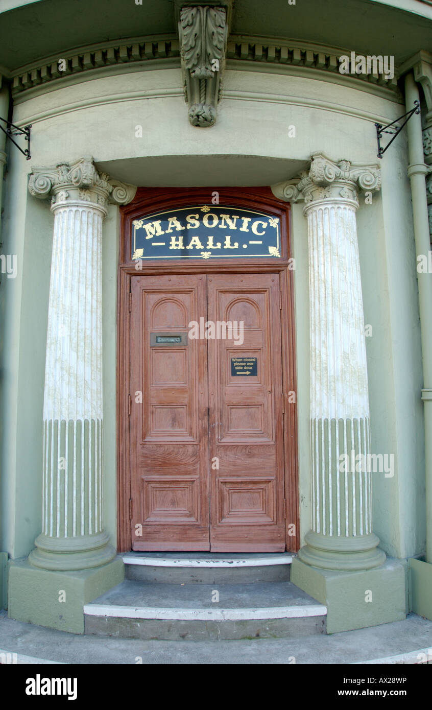 Exterior of Masonic Hall in Newport South Wales UK EU Stock Photo