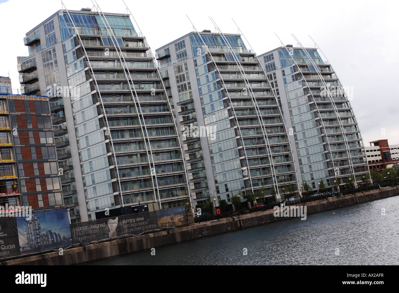 Salford Quays new apartment development - Stock Image