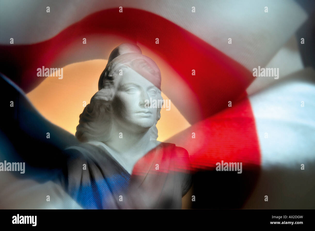 Marianne, the national symbol of french republic - Stock Image