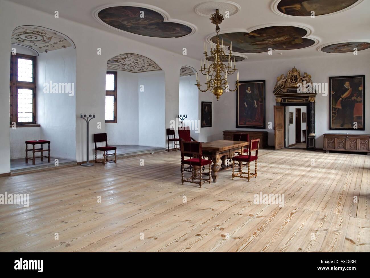 Kronborg - the King's Chamber. Elsinore or Helsingør. Denmark - Stock Image