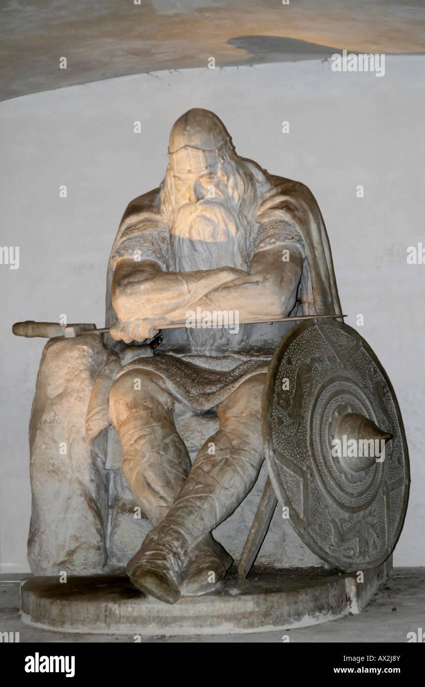 Kronborg - The historical statue of Ogier the Dane. Elsingore or Helsingør. Denmark - Stock Image