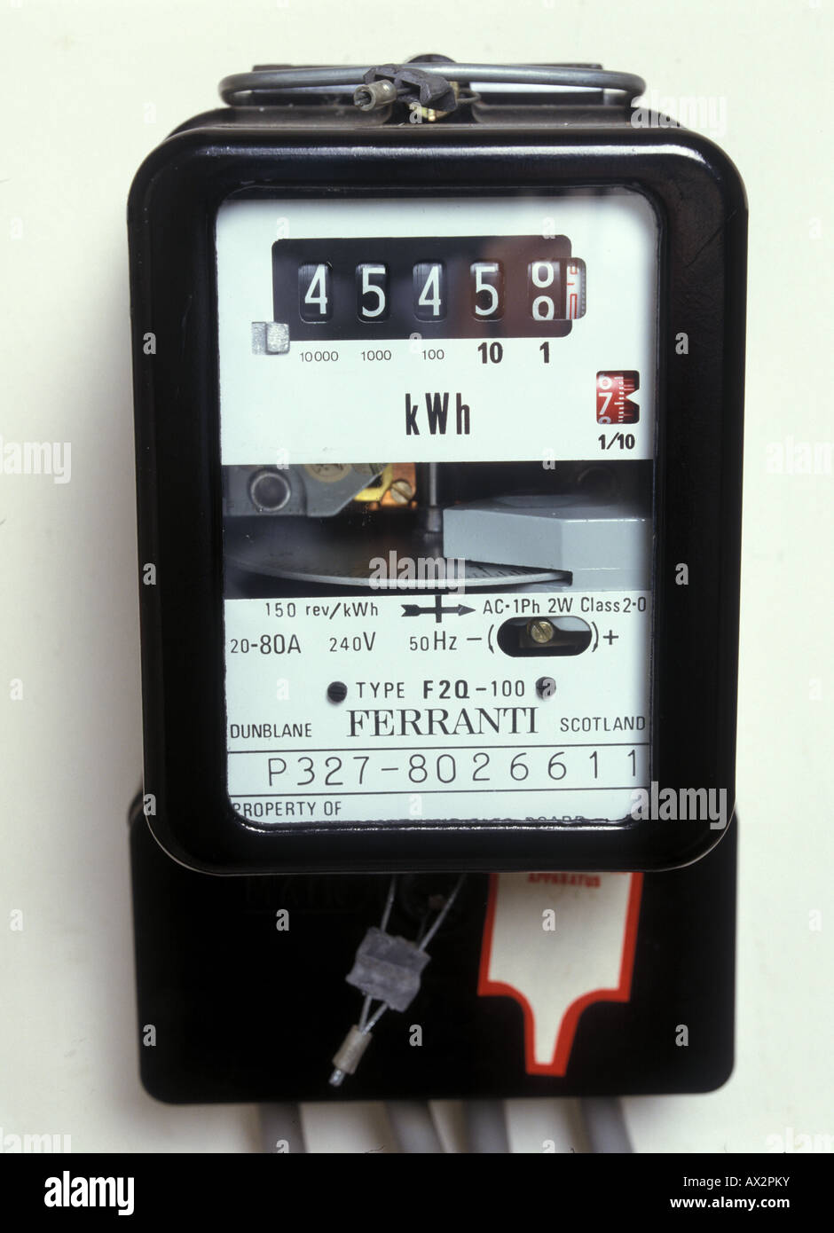 digital Kilowatt hour meter - Stock Image
