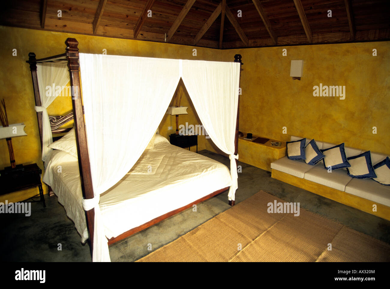 caribbean grenada island an up market hotel room - Stock Image