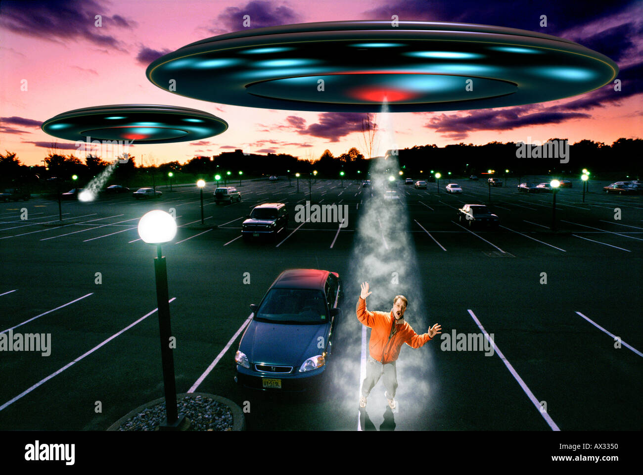 Alien Abduction - Stock Image
