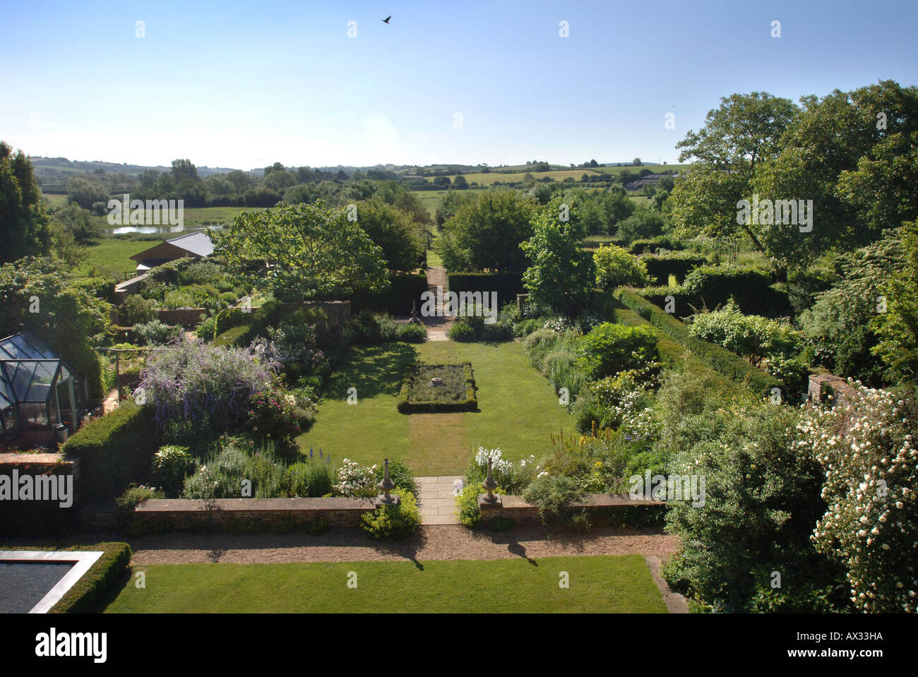 THE GARDEN AT MANOR FARM SOMERSET BY GARDEN DESIGNER SIMON JOHNSON UK Stock Photo