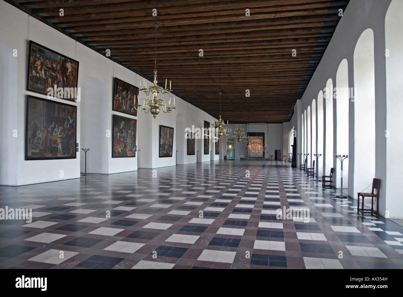 Kronborg - the Ballroom. Elsingore. Denmark - Stock Image