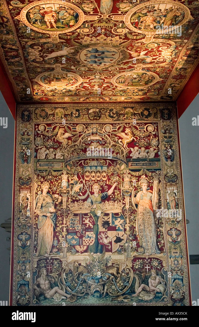 Kronborg - Detail from the kings Canopy. Elsingore or Helsingør. Denmark - Stock Image